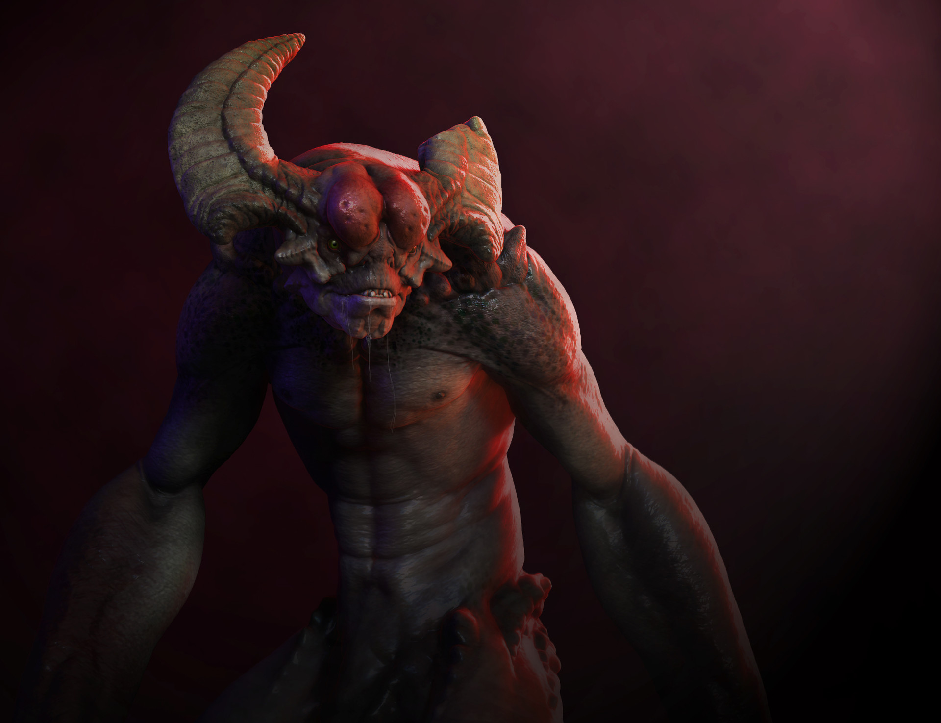 We finish wrapping up the assignment by rendering some layers within zbrush and Compositing our final image. (Class 6)