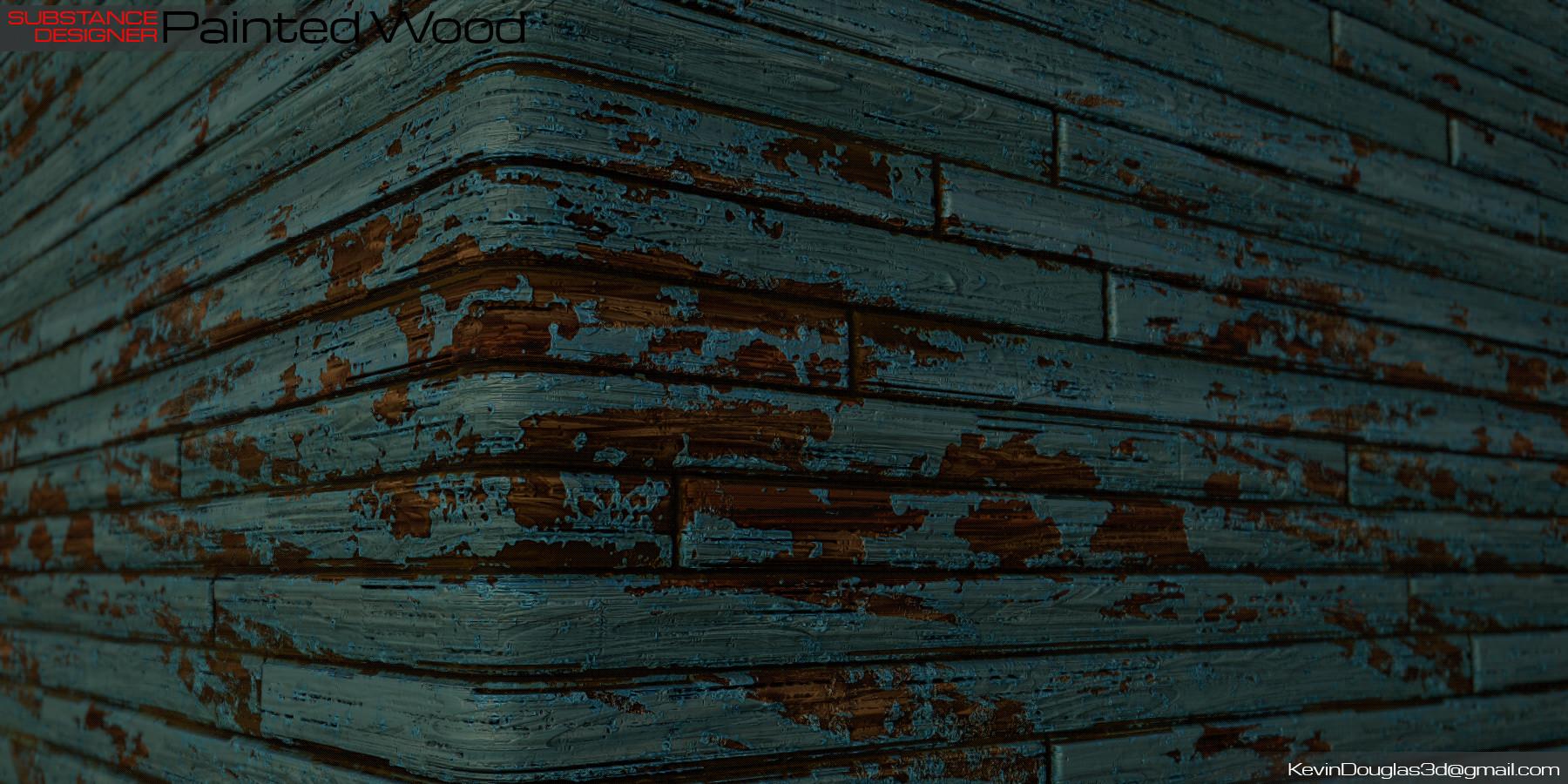 Kevin douglas painted wood beauty cu