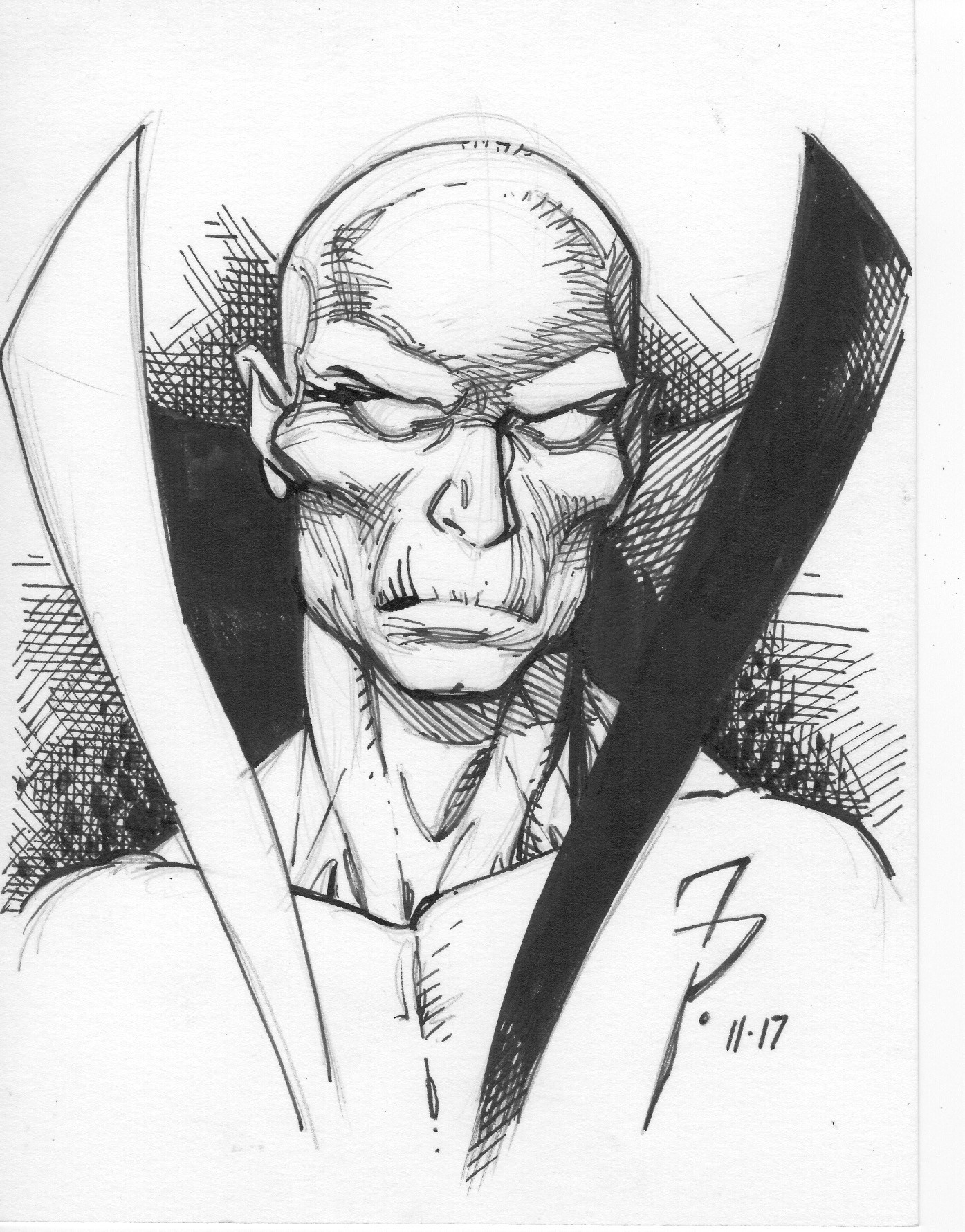 Pen and ink Deadman