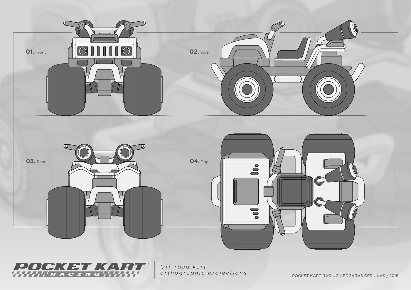 Edgaras cernikas pocket kart off rox kart orthographic projections 1400x990