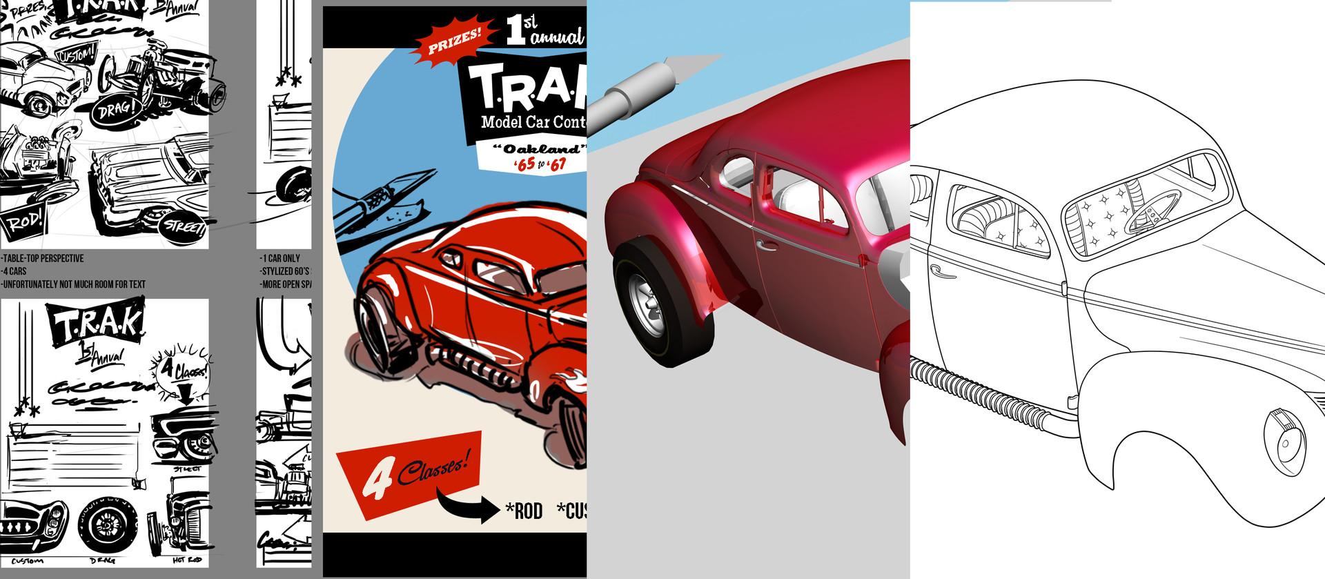 Artstation Model Car Contest Flier Chris Drysdale