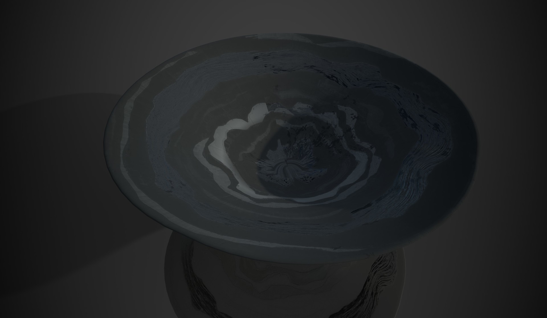 Early render with flawed uv.