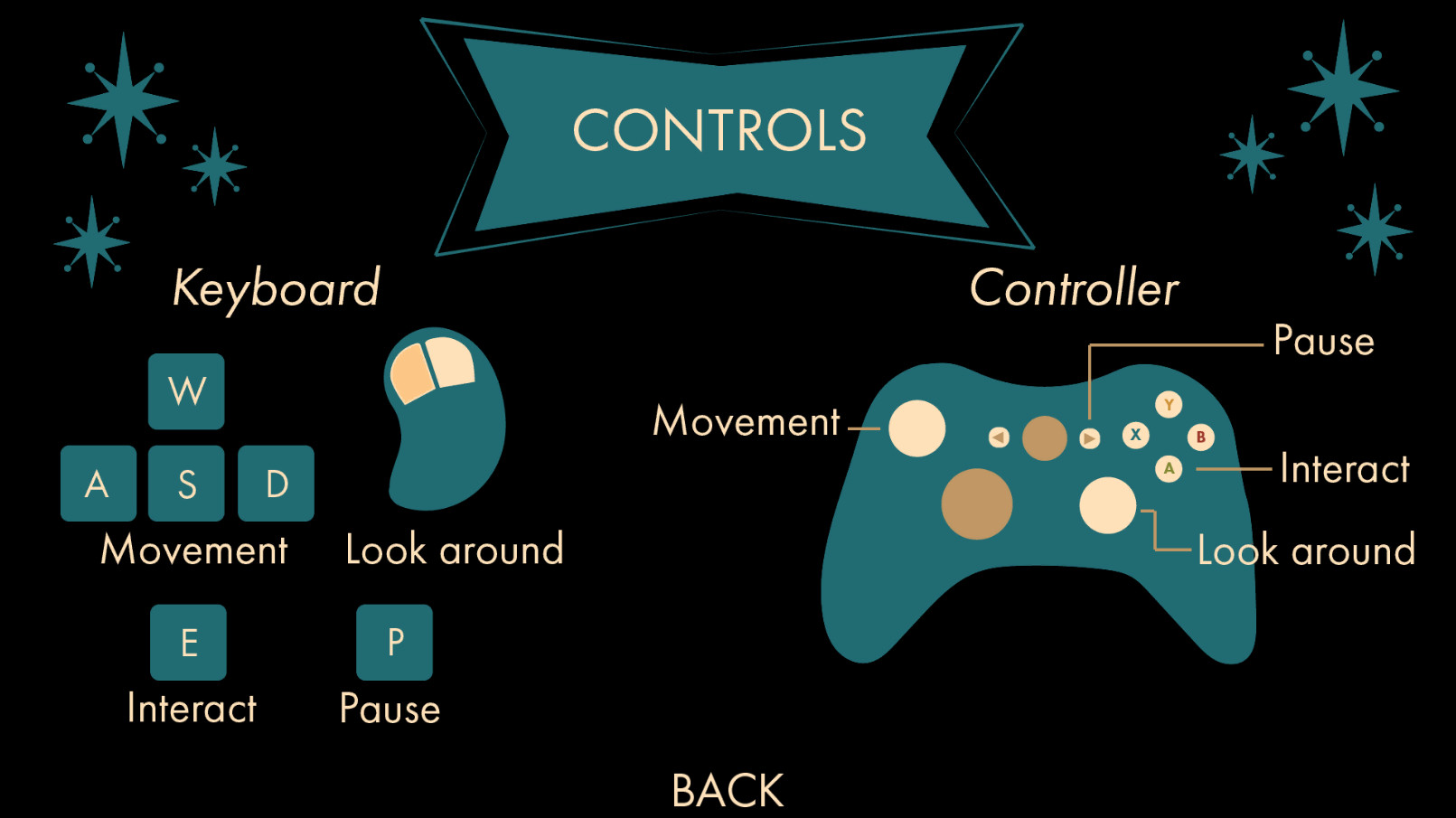 Controls Menu shows both Keyboard and XBOX Controller mapped controls.