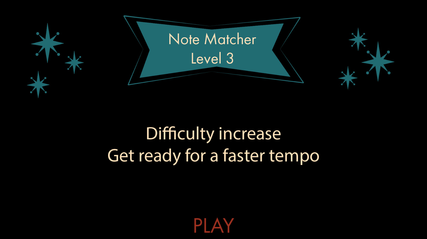 By now, the player should know how to play this type of mini game. Instead of an explanation, there is a warning that says there is a faster tempo so they are prepared.