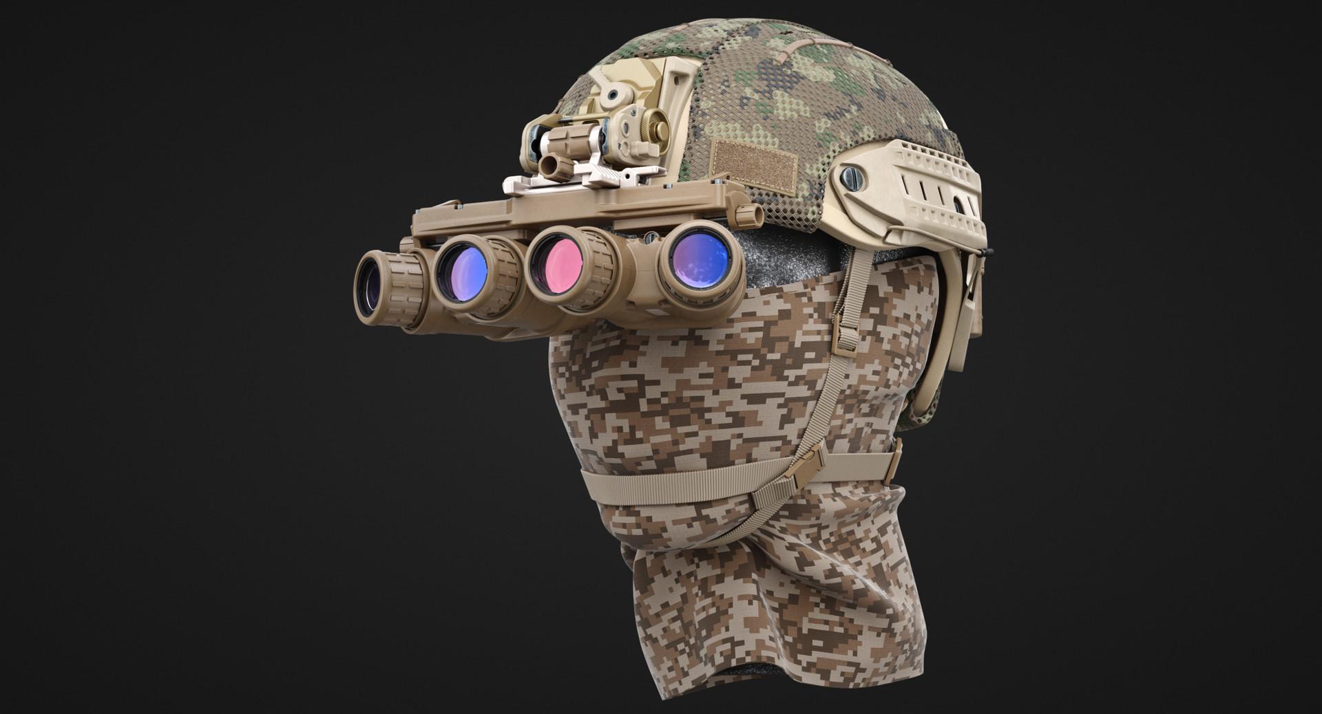 ArtStation - Military Helmet Night Goggle, Dima Ishutin