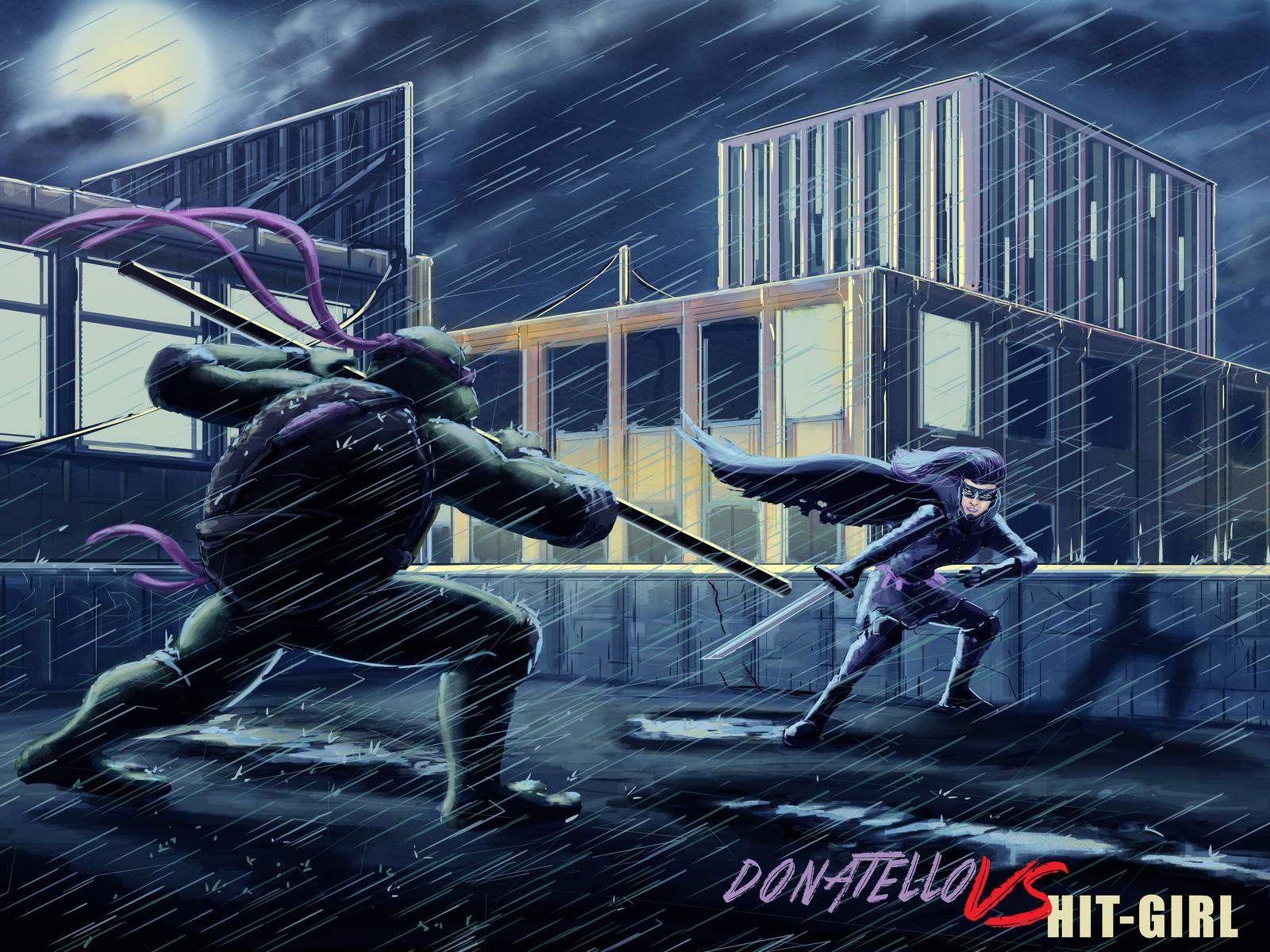 Donatello vs Hit Girl
