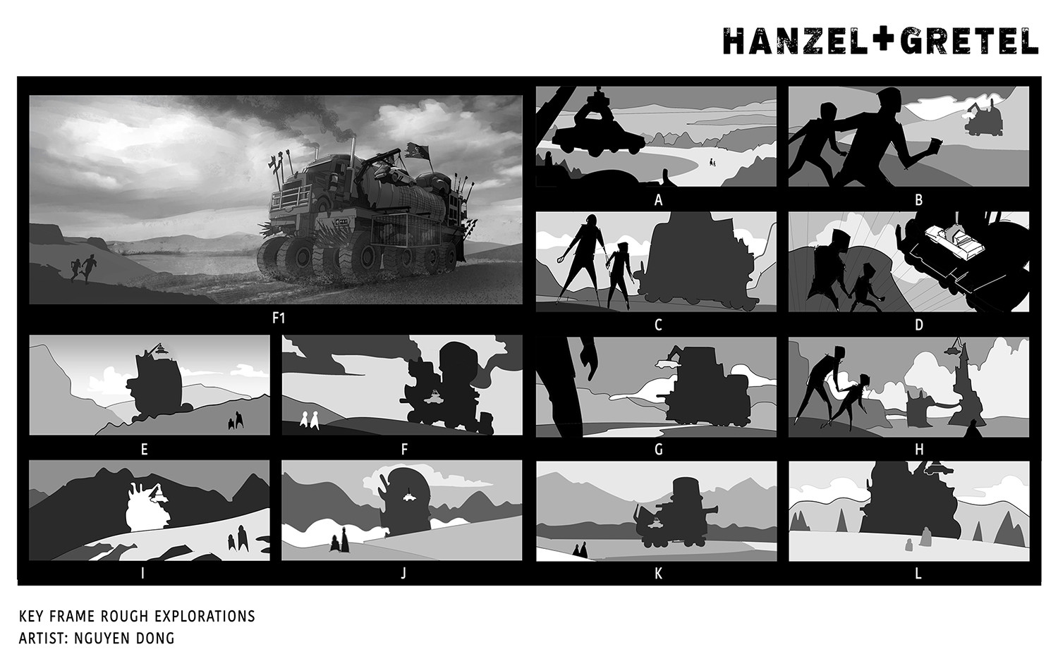 Hanz and Gretel discover the Wasteland witch's vehicle.  Rough explorations.
