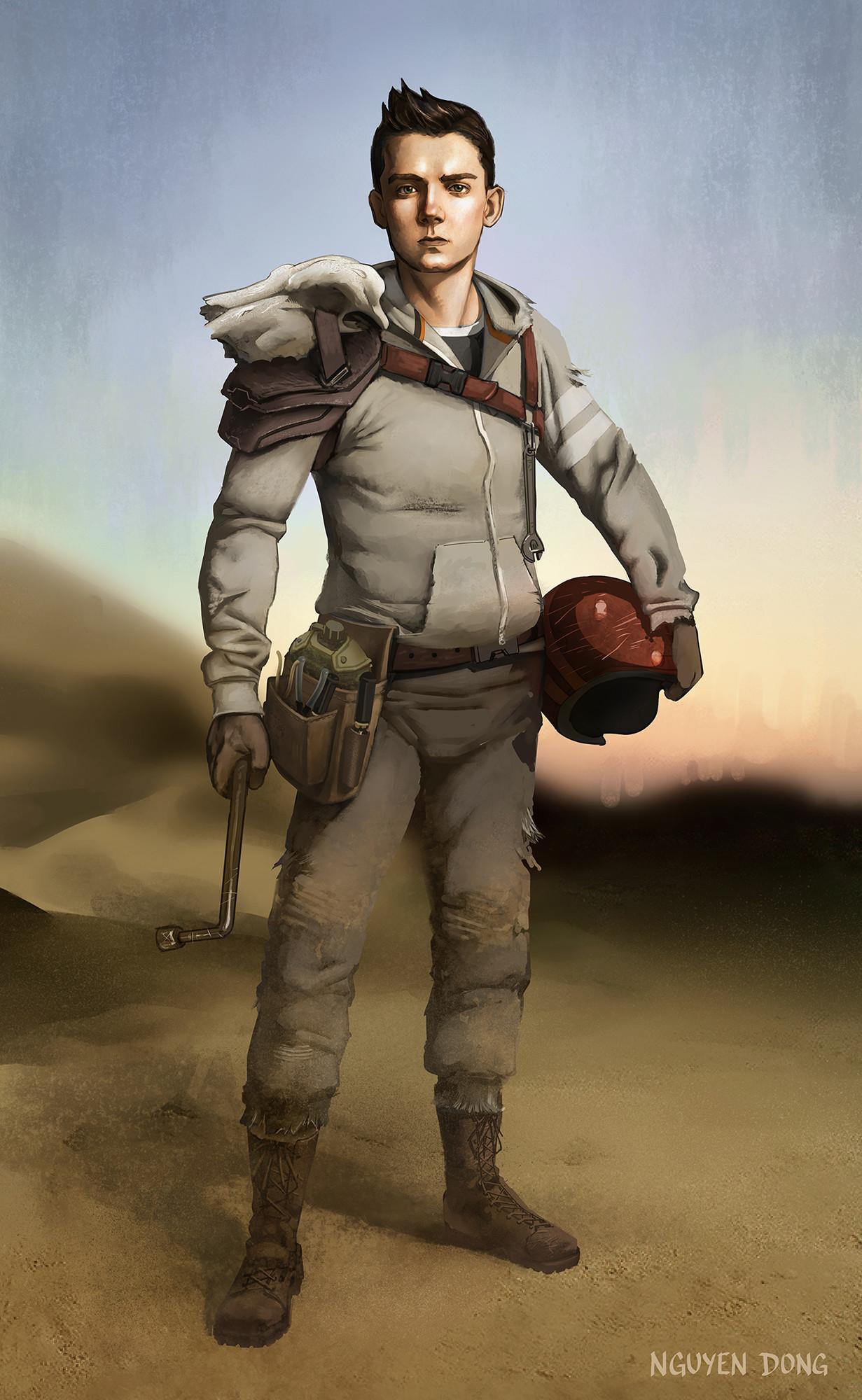 Hanz Blackfingers - Mechanic Teen son of a ex-Wasteland farmer