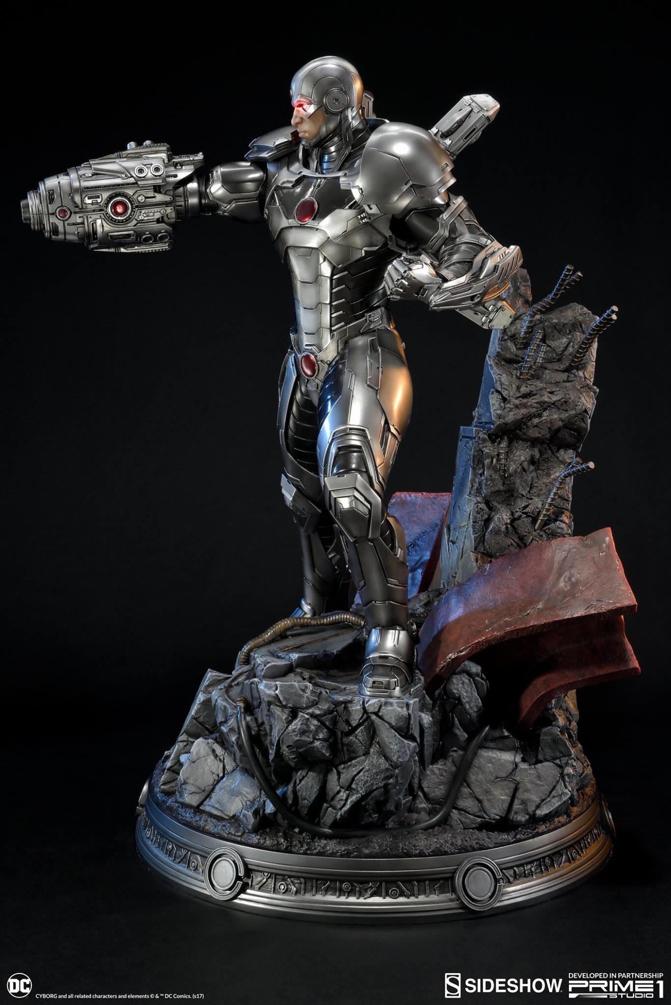 Adam fisher prime 1 studio dc cyborg statue 007