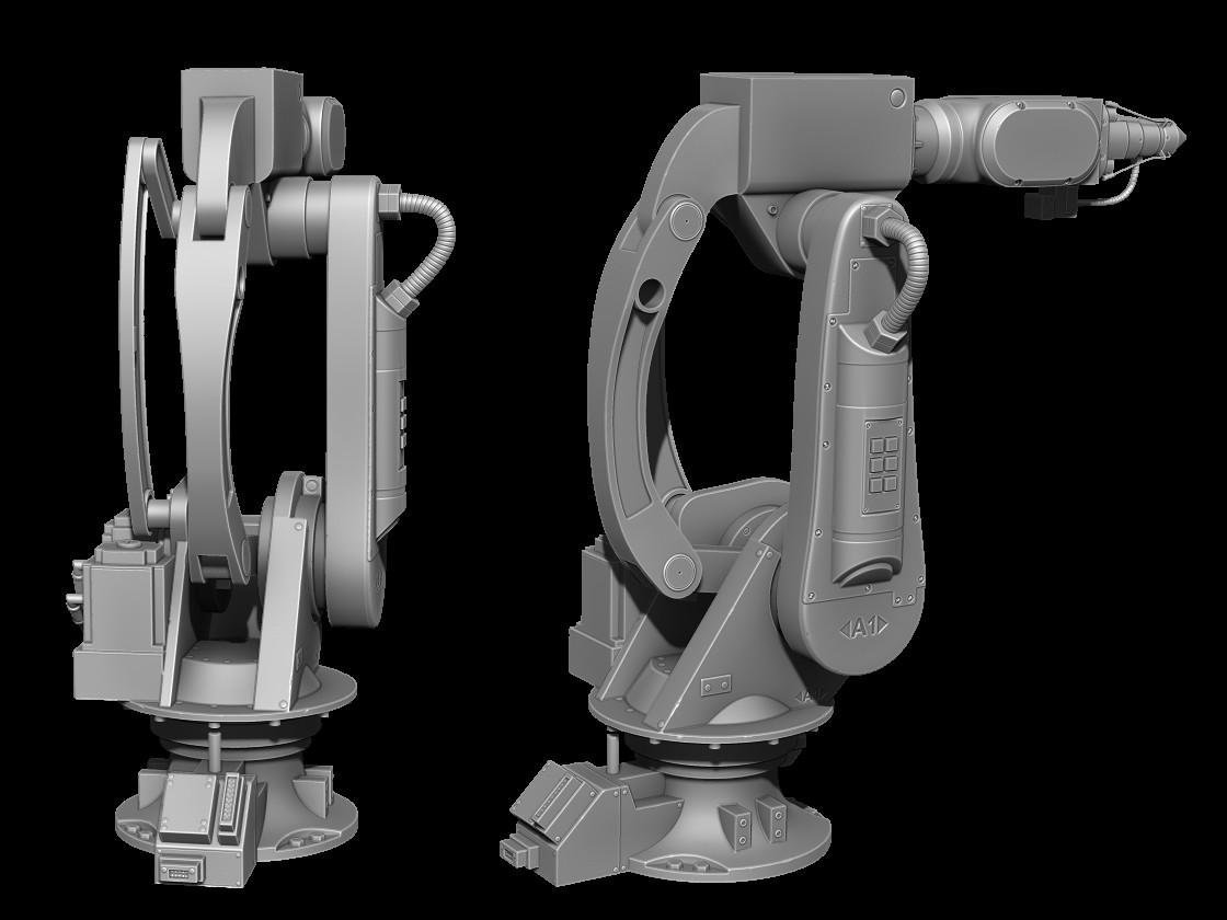 ArtStation - Robotic Arm - Own design, Andrew Phelan