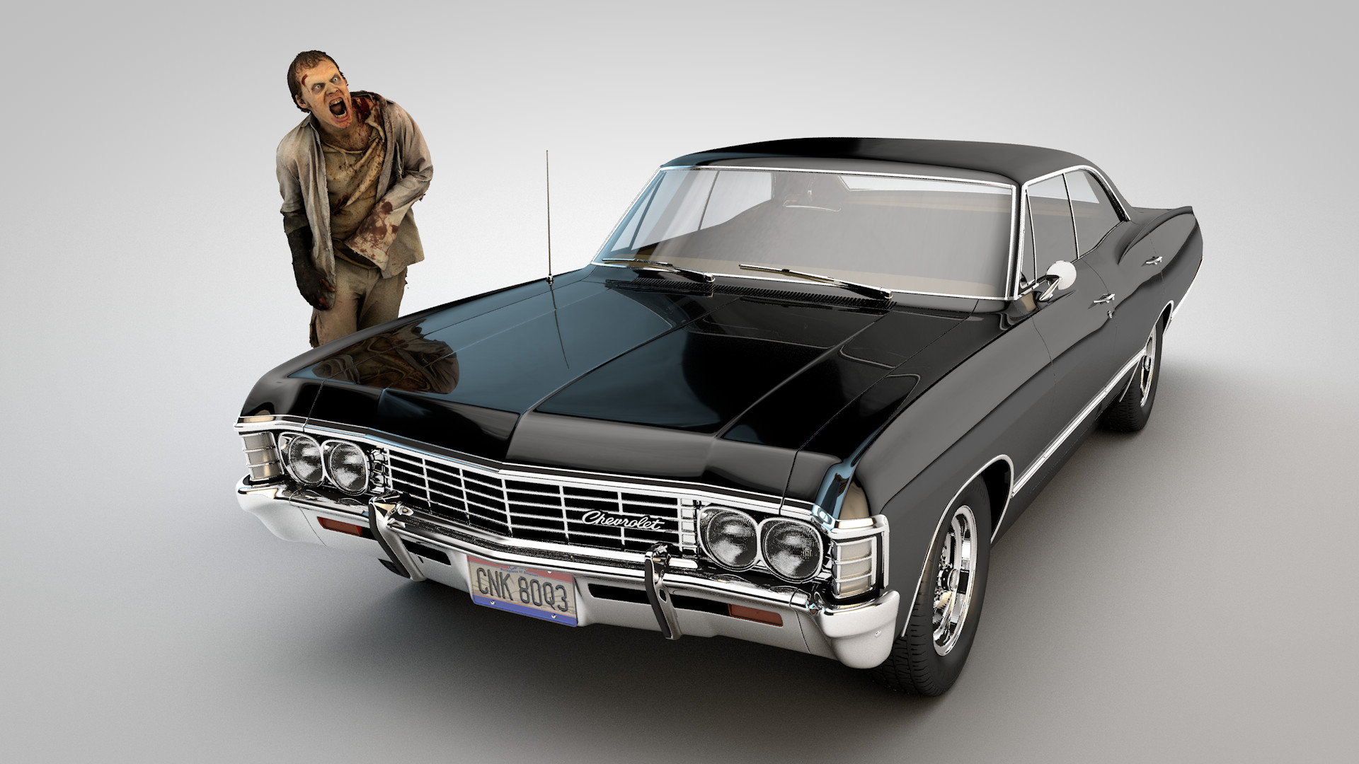 Troy Benesch Supernatural The Winchester Boys 1967 Impala With