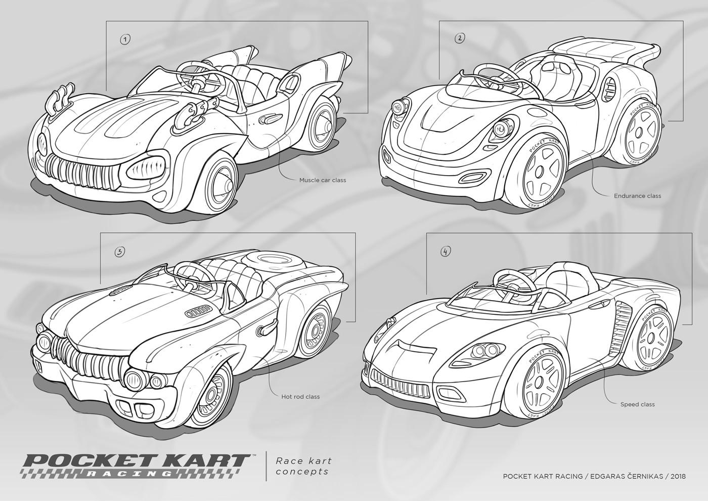Edgaras cernikas pocket kart race kart concepts 1400x990
