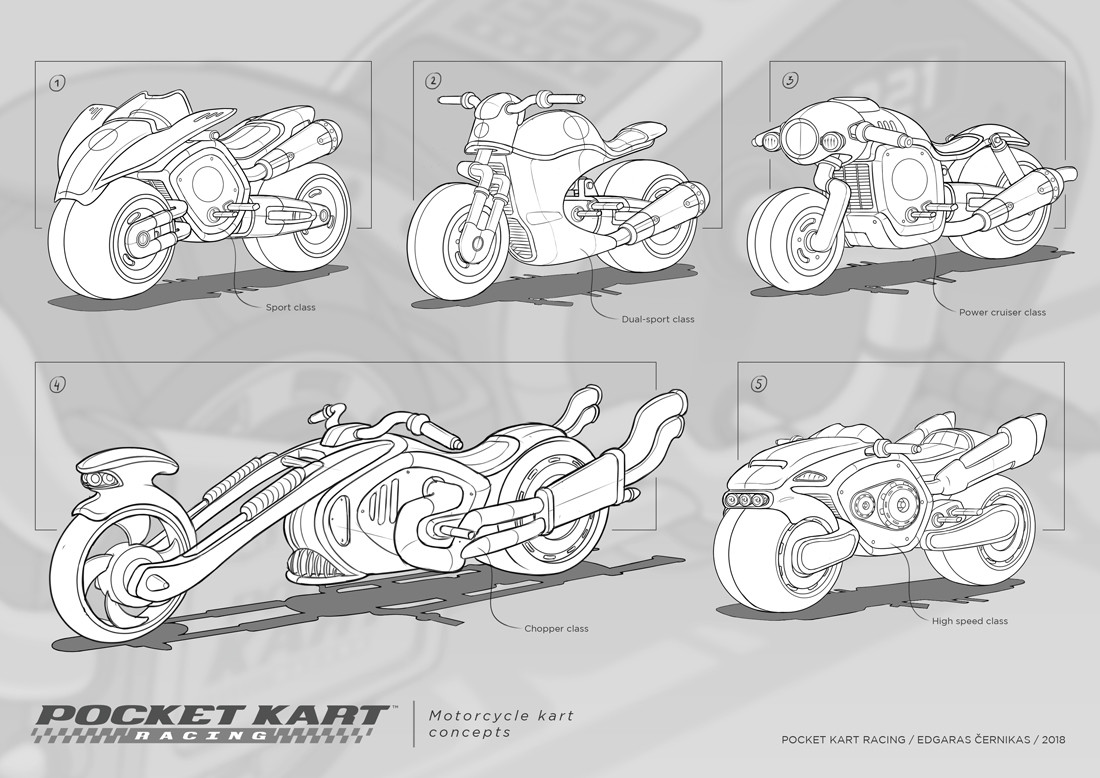 Edgaras cernikas pocket kart motorcycle kart concepts 1100x778