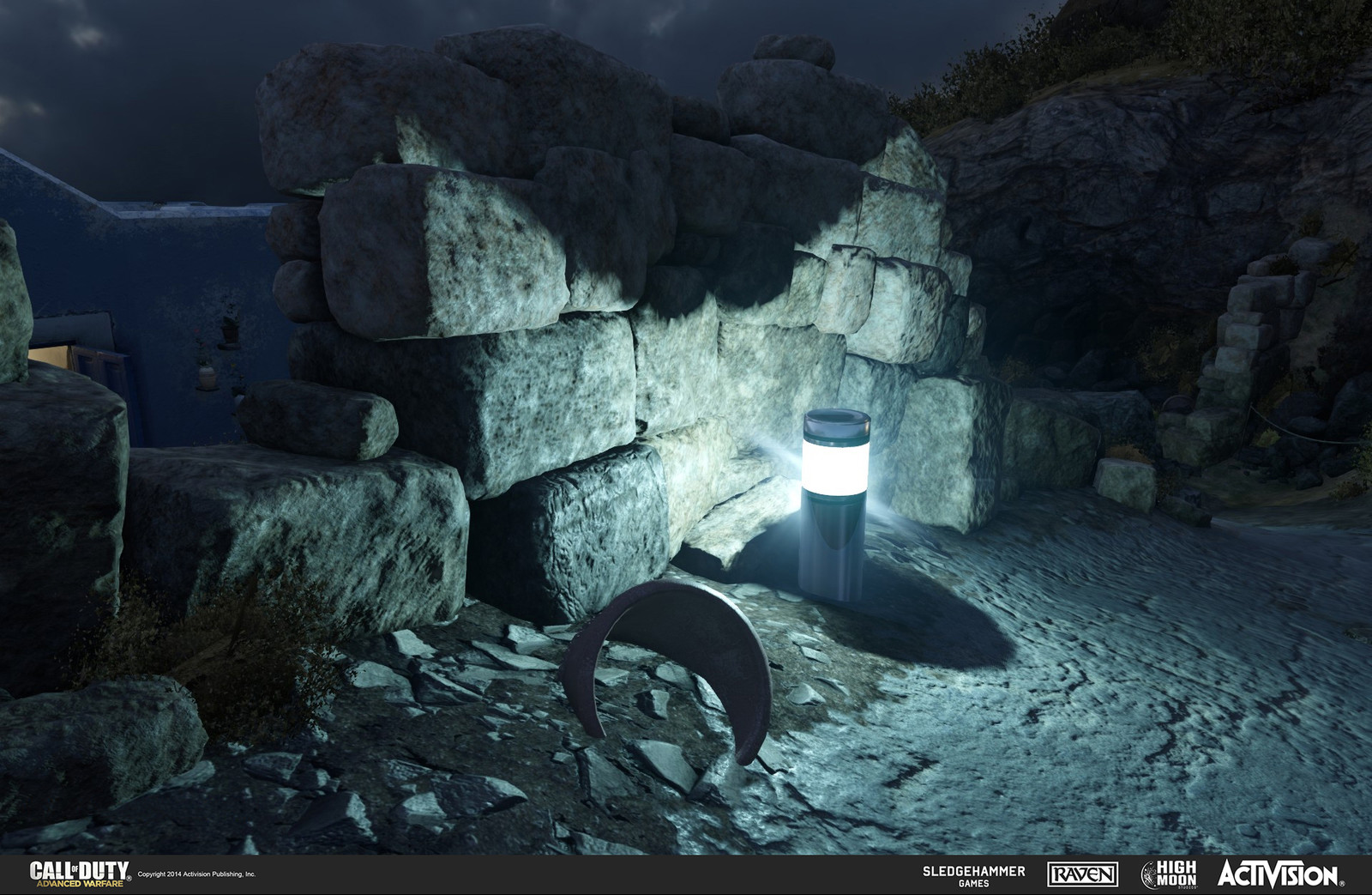 Created rock models and light canister in Terrace. The rocks were done in Z-Brush and the light canister in 3DSMax.