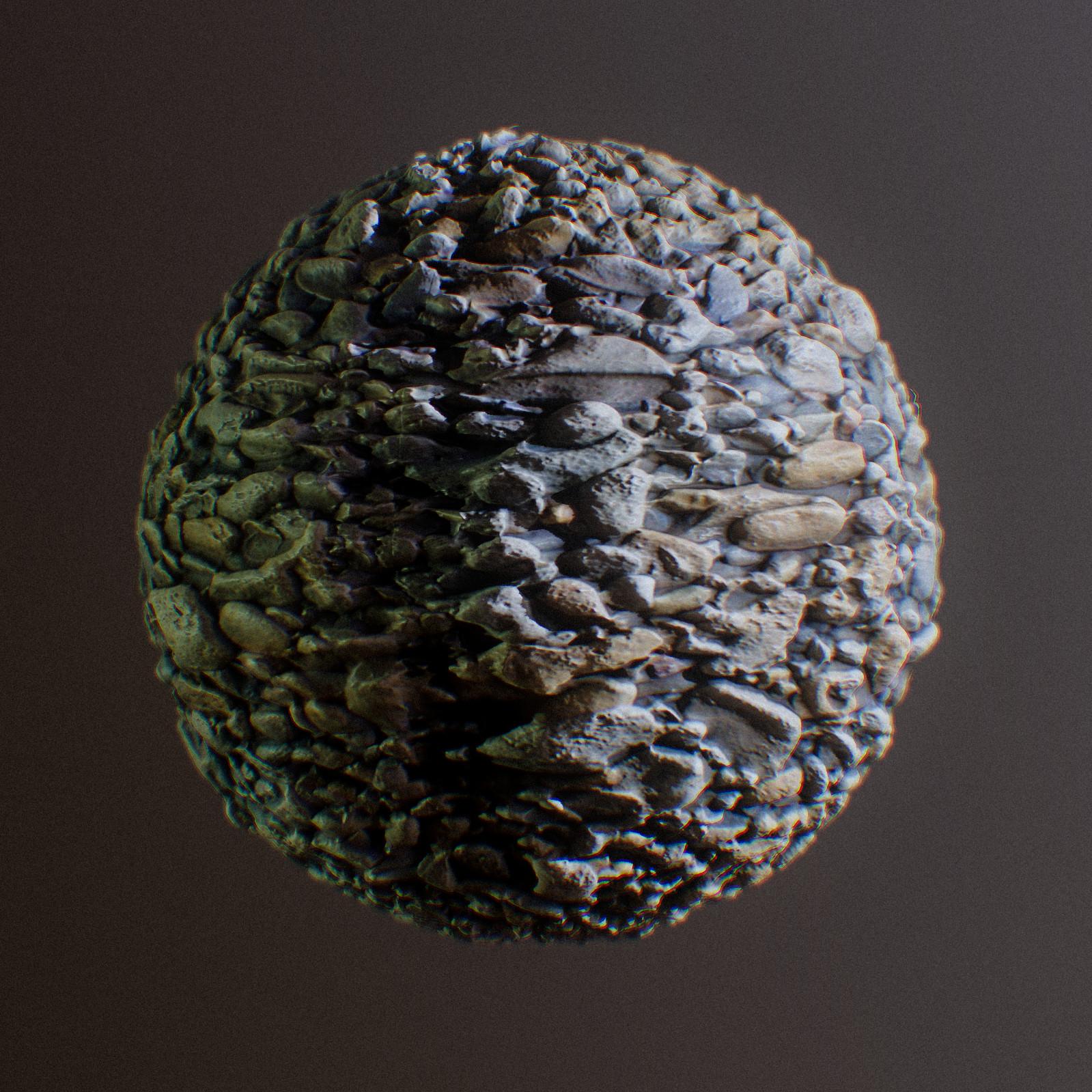 Texture Practice - Gravel Cobble