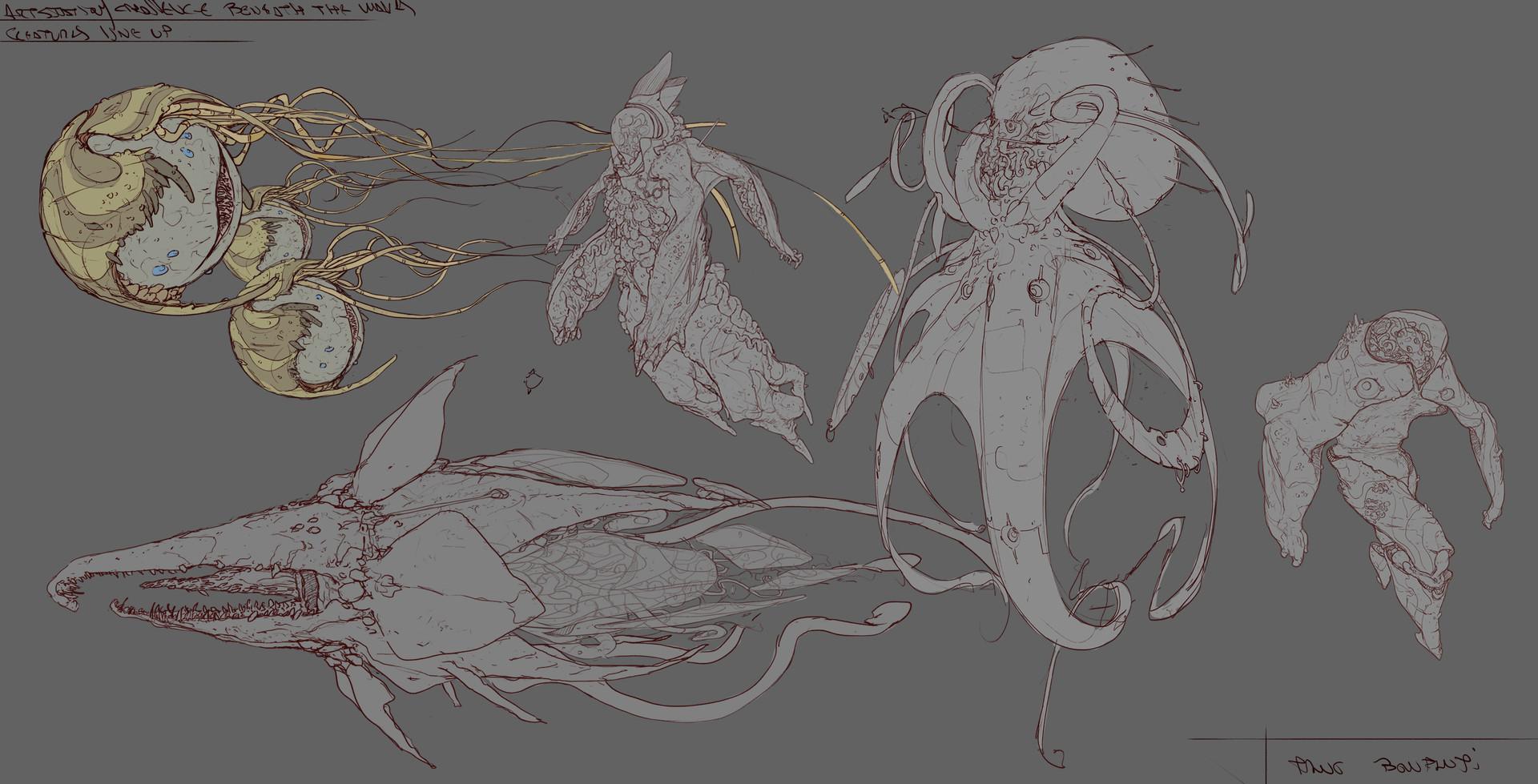 Tano bonfanti line up creatures update