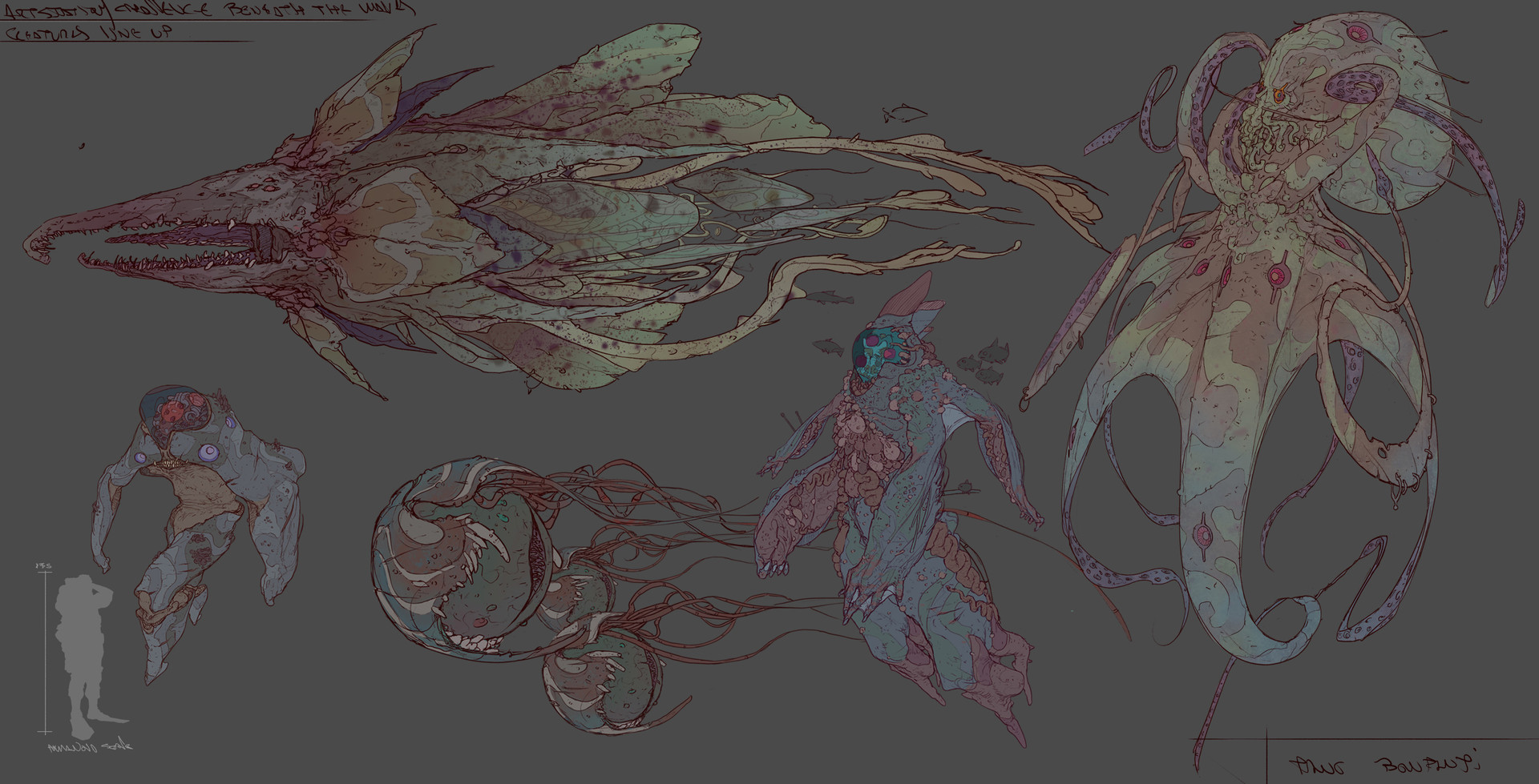 Tano bonfanti line up creatures2
