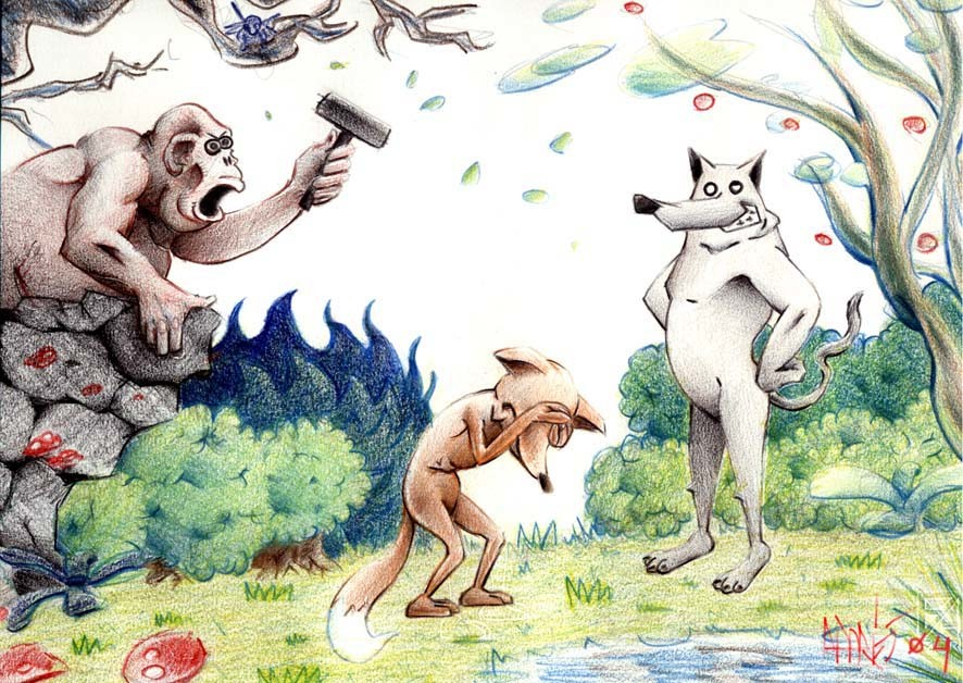 Andres campos mono zorra lobo