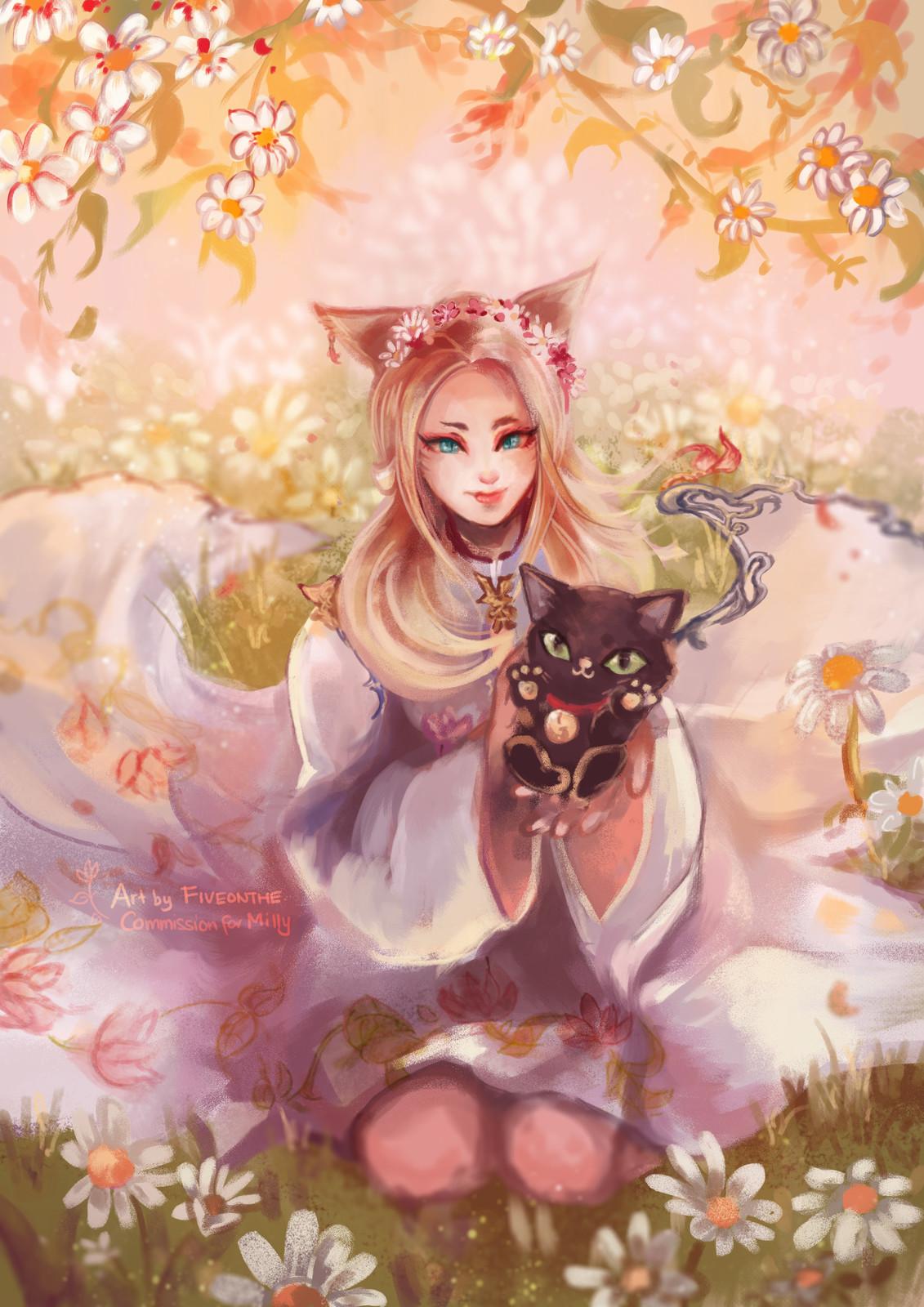 Kitties and Daisies