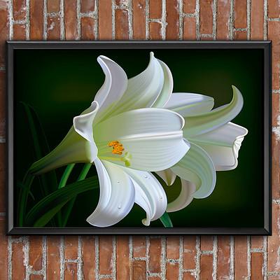 Rajesh r sawant lilies mockup