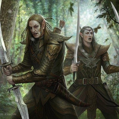 Martin de diego two elven warriors6 copia by almanegra d61u30e