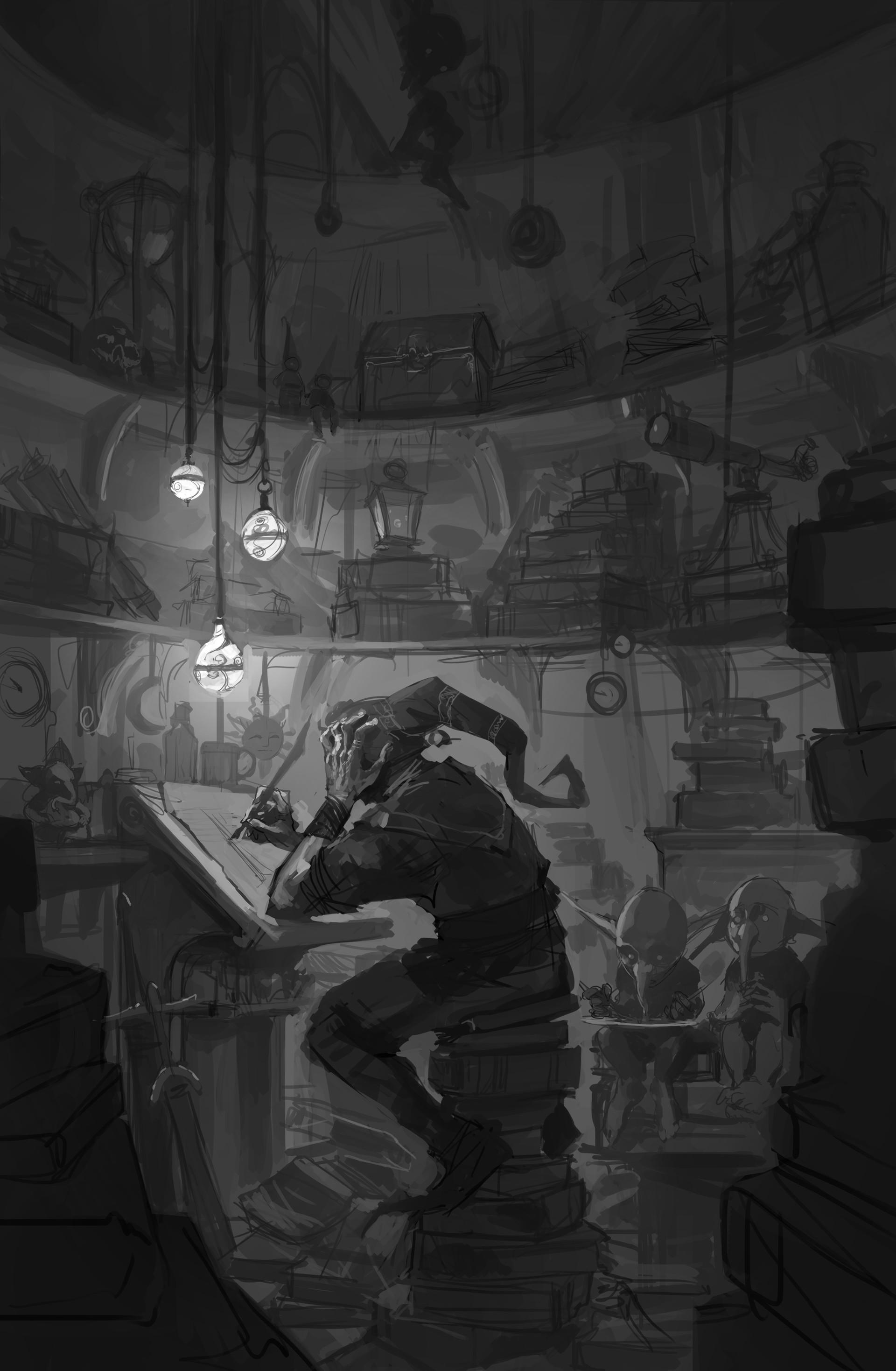 Pedro kruger garcia mind library sketch