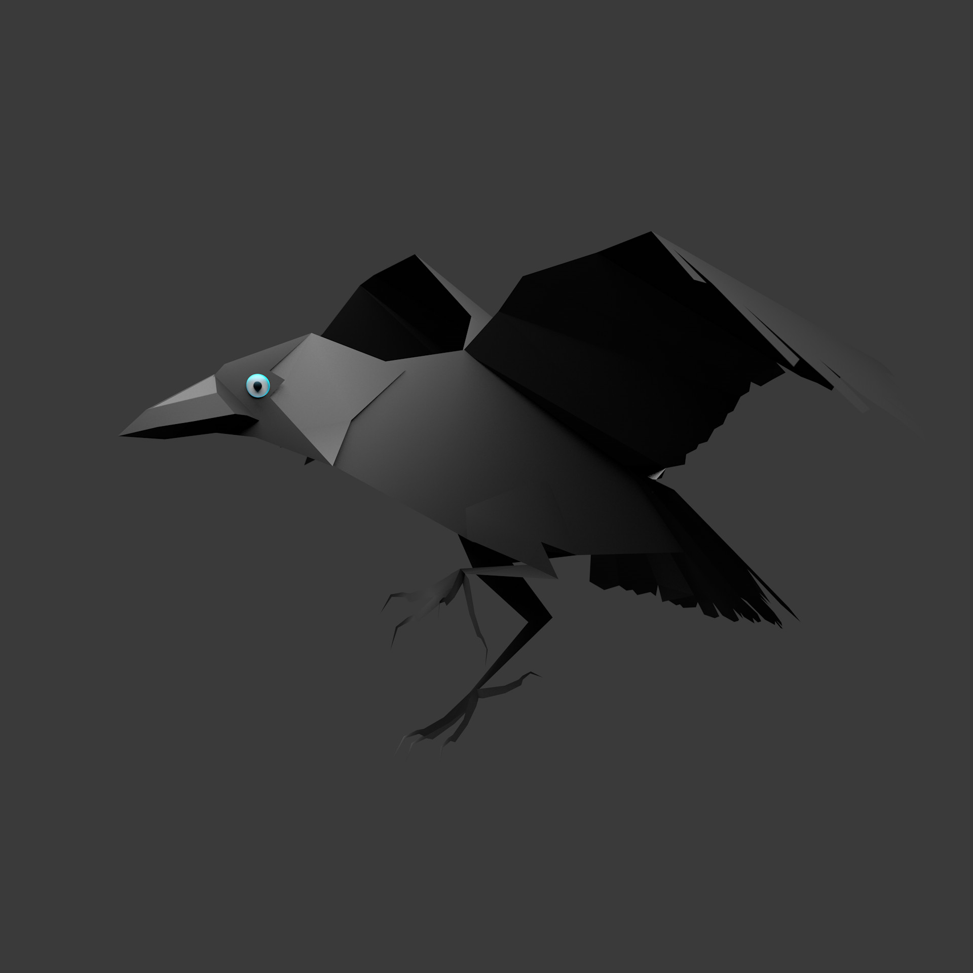3d Jackdaw, check it of giphy
