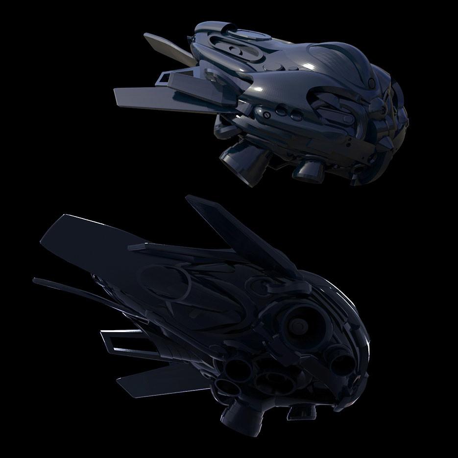 spaceship concept sketch