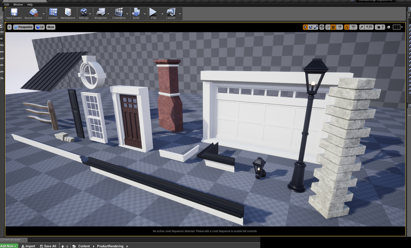 Modular custom assets for building the house