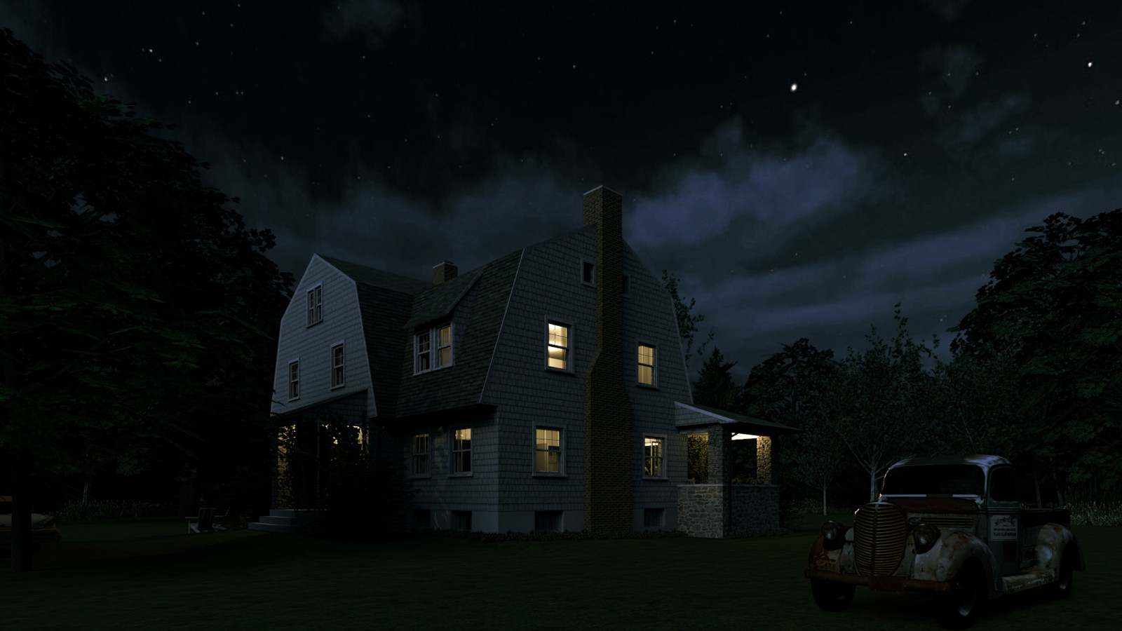 """""""Mason Farm - Moonlight Lullaby"""" Full Moon Collection  32 Masonfarm HD1080 26 - iP Kodac  """"SketchUp to LayOut"""" The Mason Farm Renders for the launching of the new book """"SketchUp to LayOut"""" http://bit.ly/2j0d0Wh by MasterSketchup."""