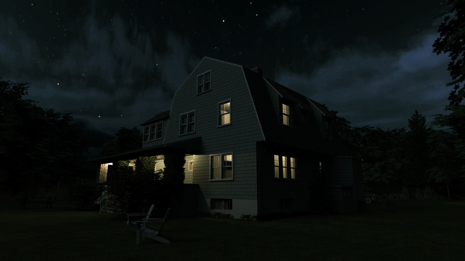 """""""Mason Farm - Moonlight Melodies"""" Full Moon Collection  34 Masonfarm HD1080 24 - iP Kodac  """"SketchUp to LayOut"""" The Mason Farm Renders for the launching of the new book """"SketchUp to LayOut"""" http://bit.ly/2j0d0Wh by MasterSketchup."""