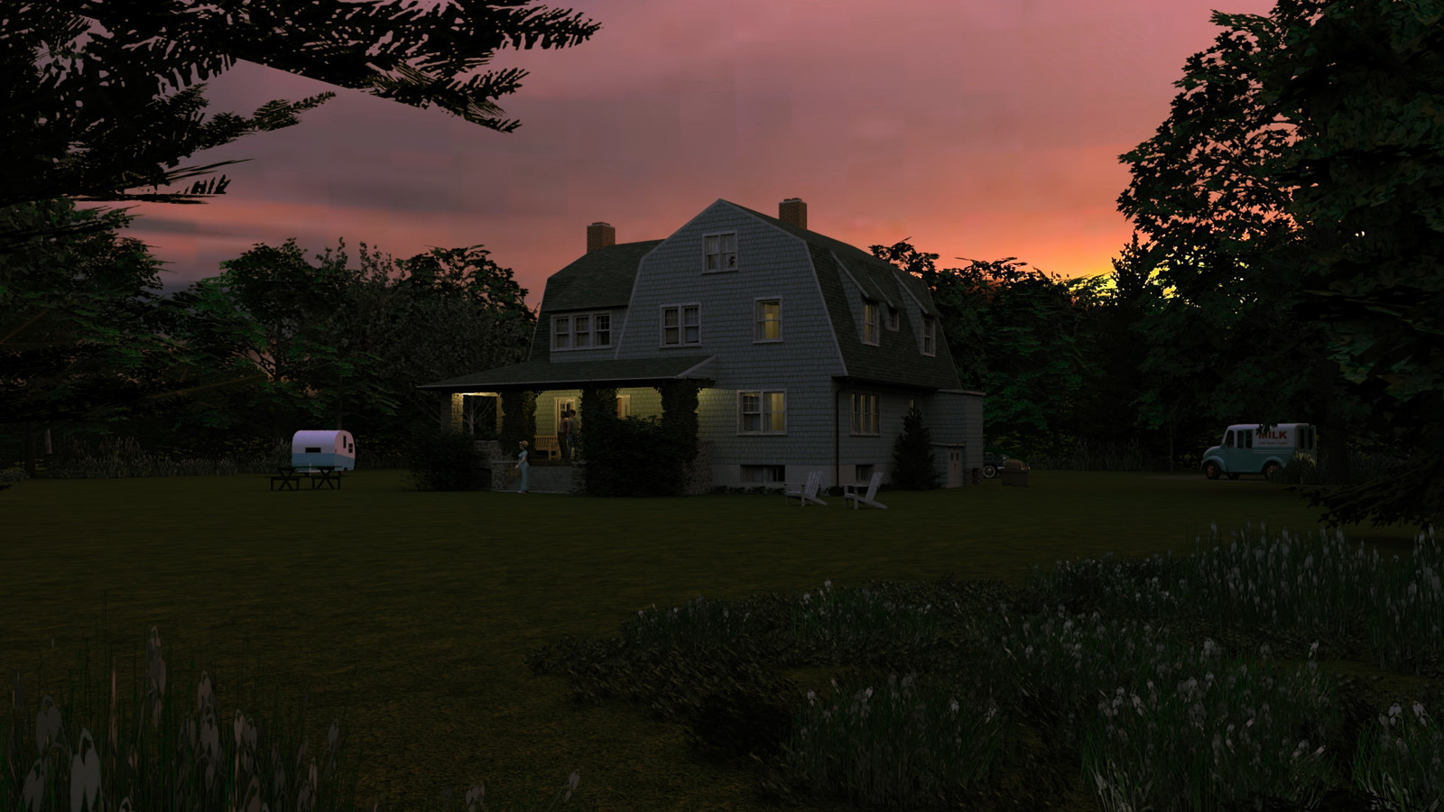"""""""Mason Farm - Homestead's Heart (Dusk)"""" Magic Hour Collection  27 Masonfarm HD1080 15b - iP Kodac  """"SketchUp to LayOut"""" The Mason Farm Renders for the launching of the new book """"SketchUp to LayOut"""" http://bit.ly/2j0d0Wh by MasterSketchup."""