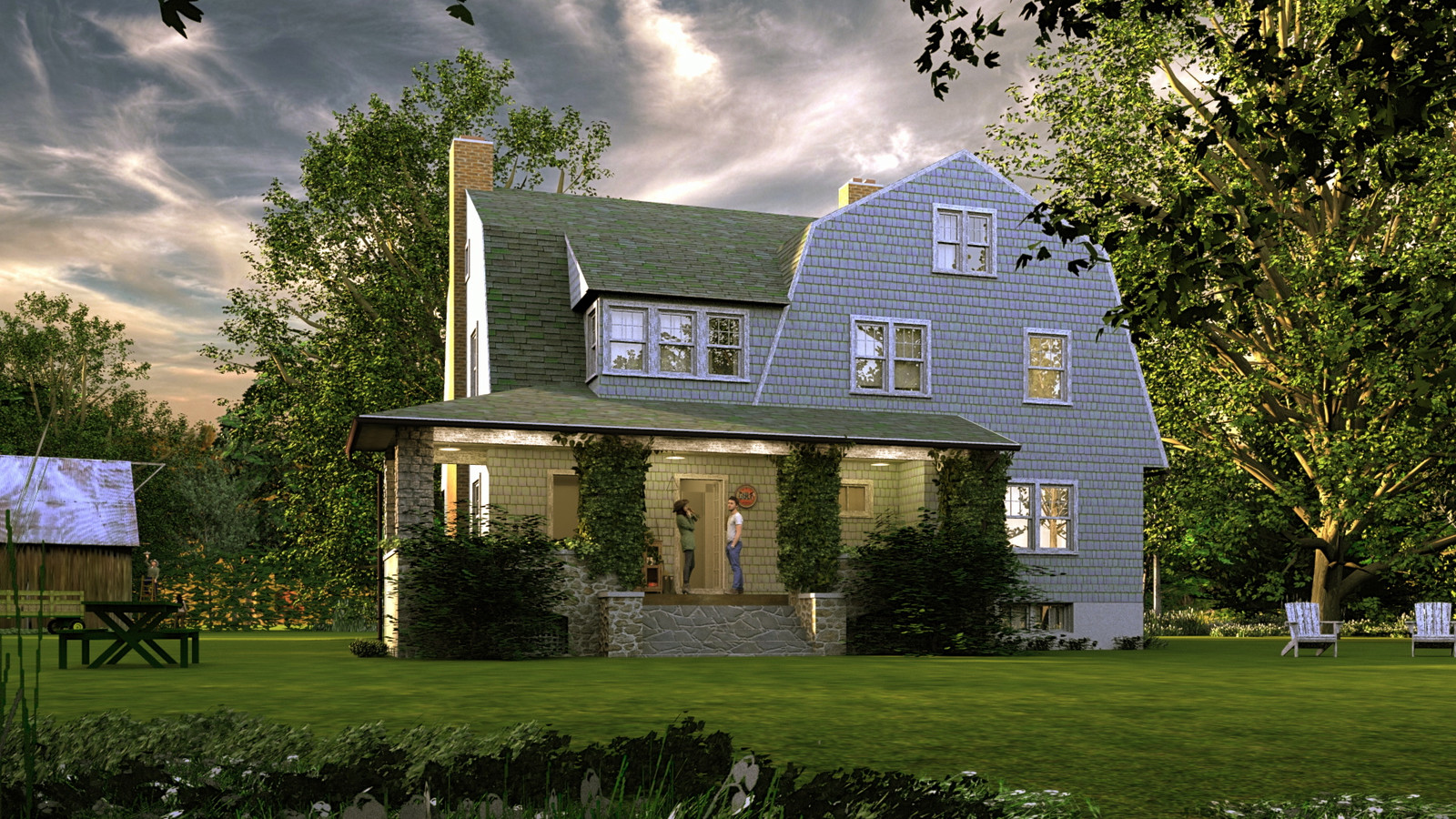 """""""Mason Farm - Rural Paradise"""" Summer Sun Collection   02 Masonfarm HD1080 31 - iP Kodac  """"SketchUp to LayOut"""" The Mason Farm Renders for the launching of the new book """"SketchUp to LayOut"""" http://bit.ly/2j0d0Wh by MasterSketchup."""