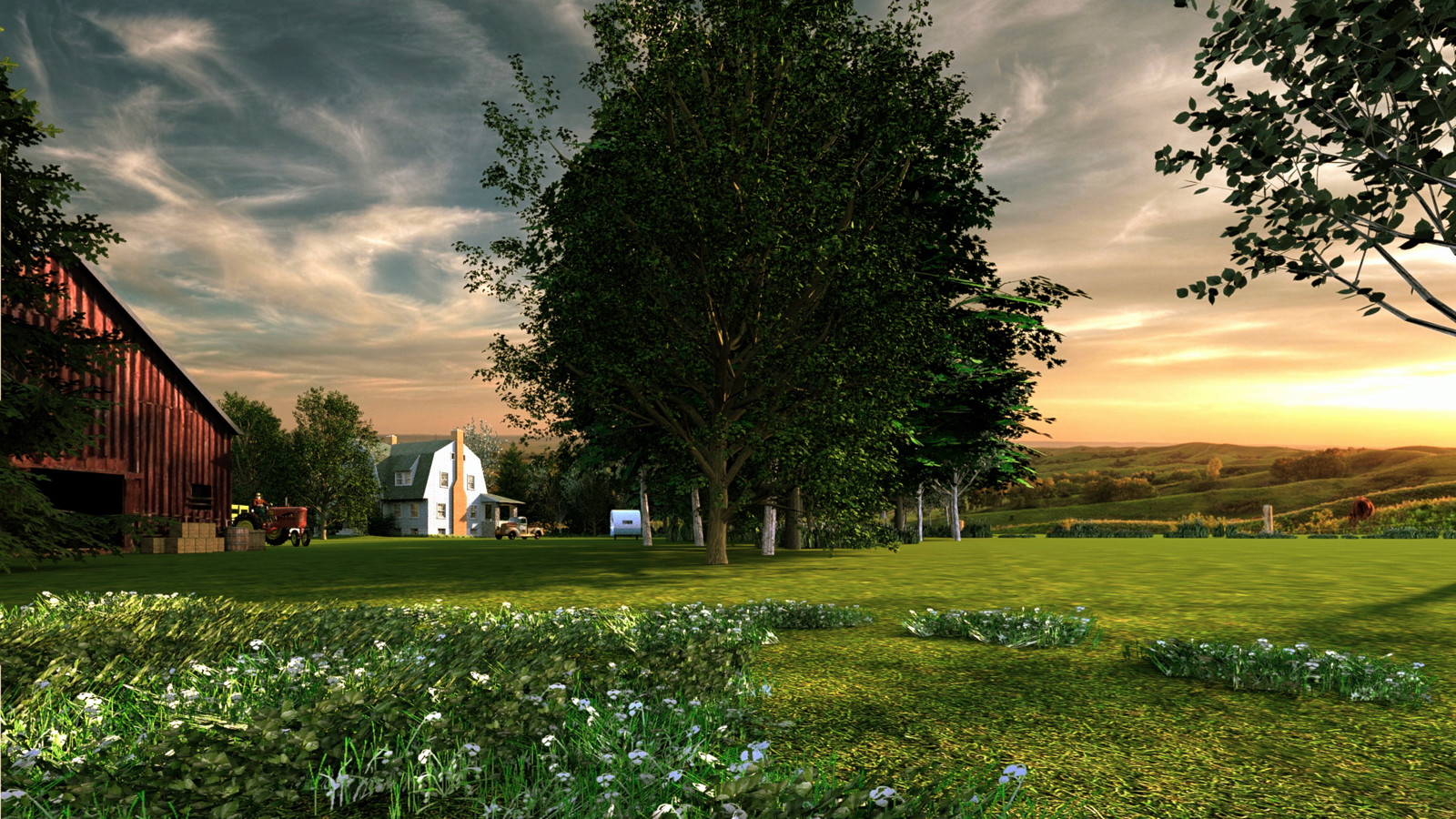 """""""Mason Farm - Here, Far and Away"""" - Summer Sun Collection    06 Masonfarm HD1080 35 - iP Kodac 02  """"SketchUp to LayOut"""" The Mason Farm Renders for the launching of the new book """"SketchUp to LayOut"""" http://bit.ly/2j0d0Wh by MasterSketchup."""