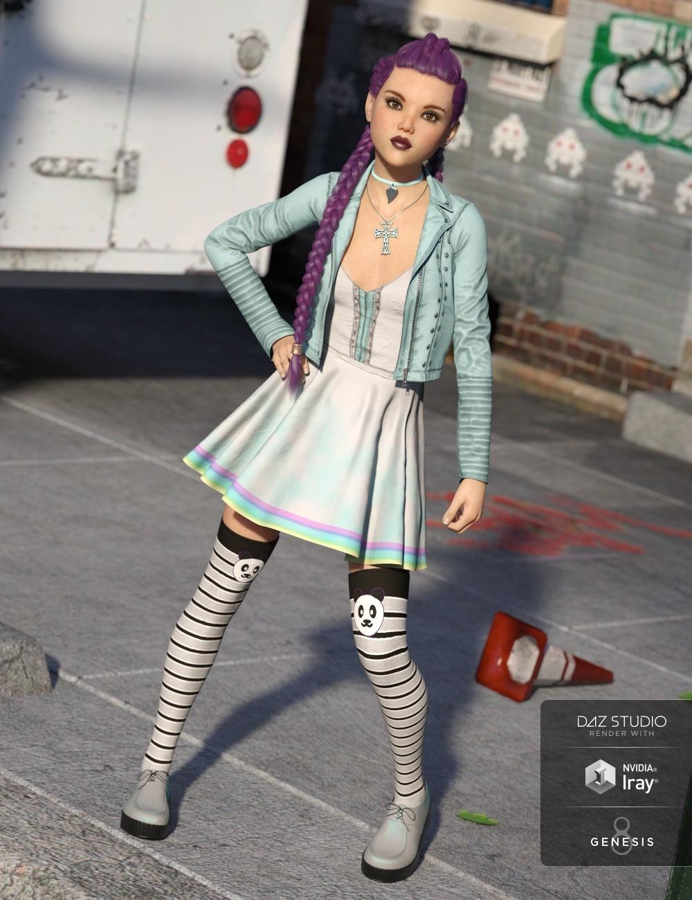 Artstation Pastel Goth Outfit For Genesis 8 Female Lisa