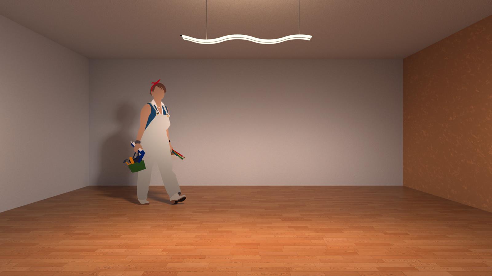SketchUp + Thea Render Lamp: WOFI LOUVRE - Series 825 KP build Straight test render for IES lights  Facebook Album: https://www.facebook.com/259430530769198/photos/?tab=album&album_id=1060701470642096
