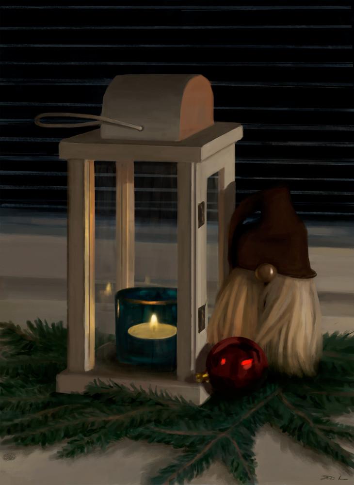Satu pihlajamaa jouluasetelma valmis