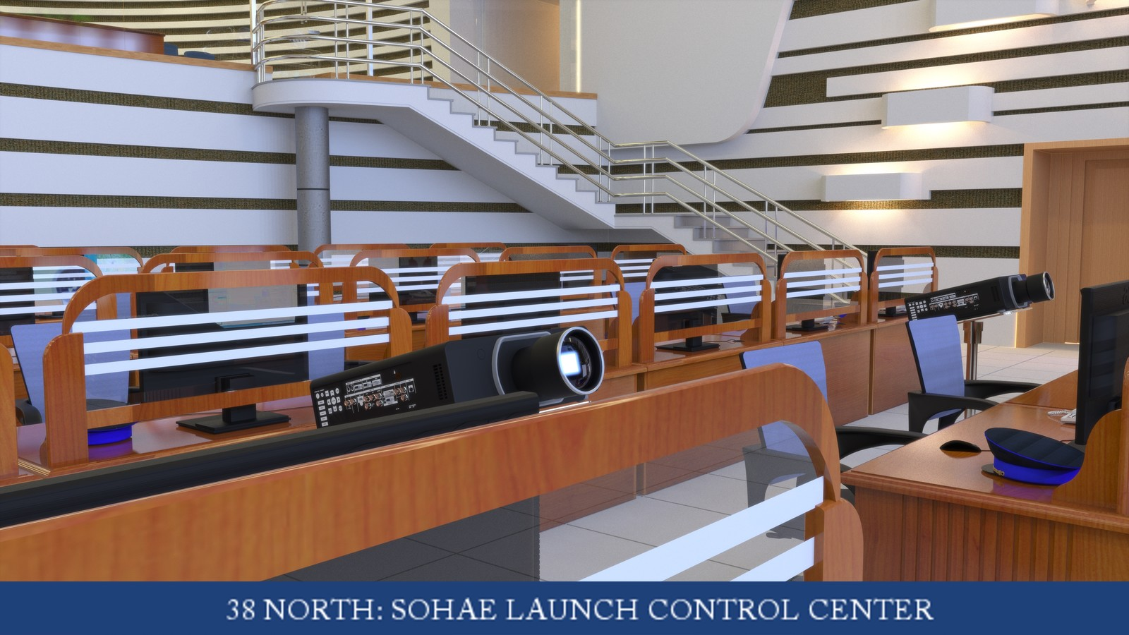 Sohae Satellite Launching Station's Launch for 38 North Control Room 01 Model by Nathan J Hunt/Edited & Rendered by Duane Kemp Project for 38North  Read the story here: http://www.kemppro.com/KP-3D-Sohae-Launch-Control-Room-WIRED-Magazine.html
