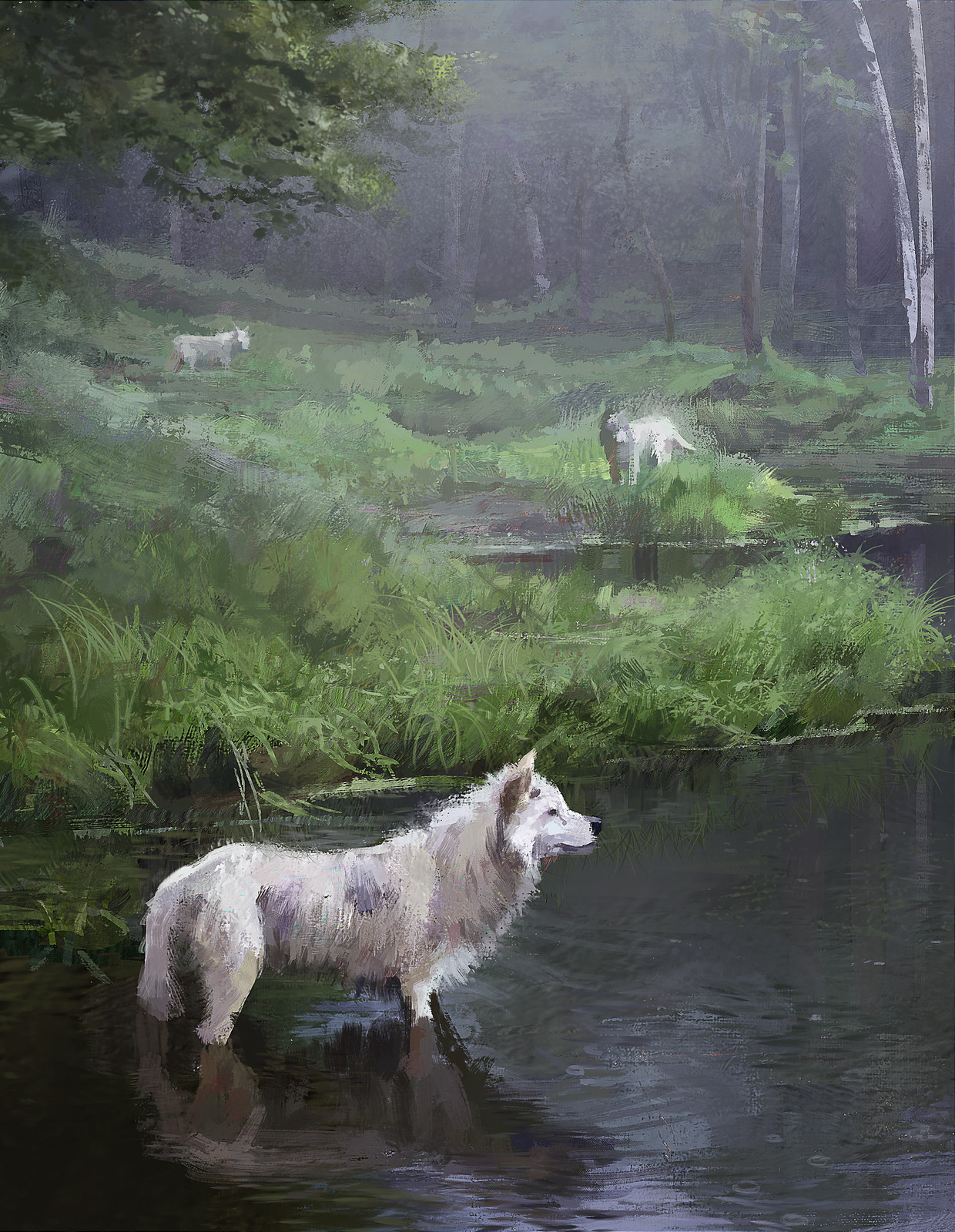 Three Wolves Study