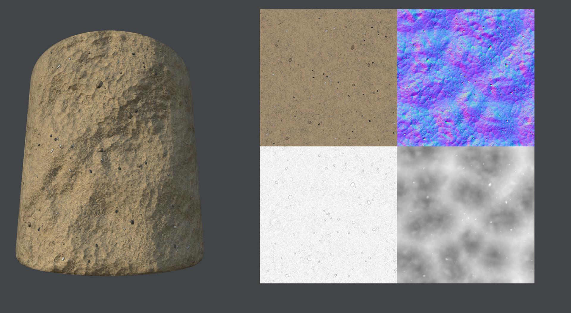 Desert Sand texture created in substance designer