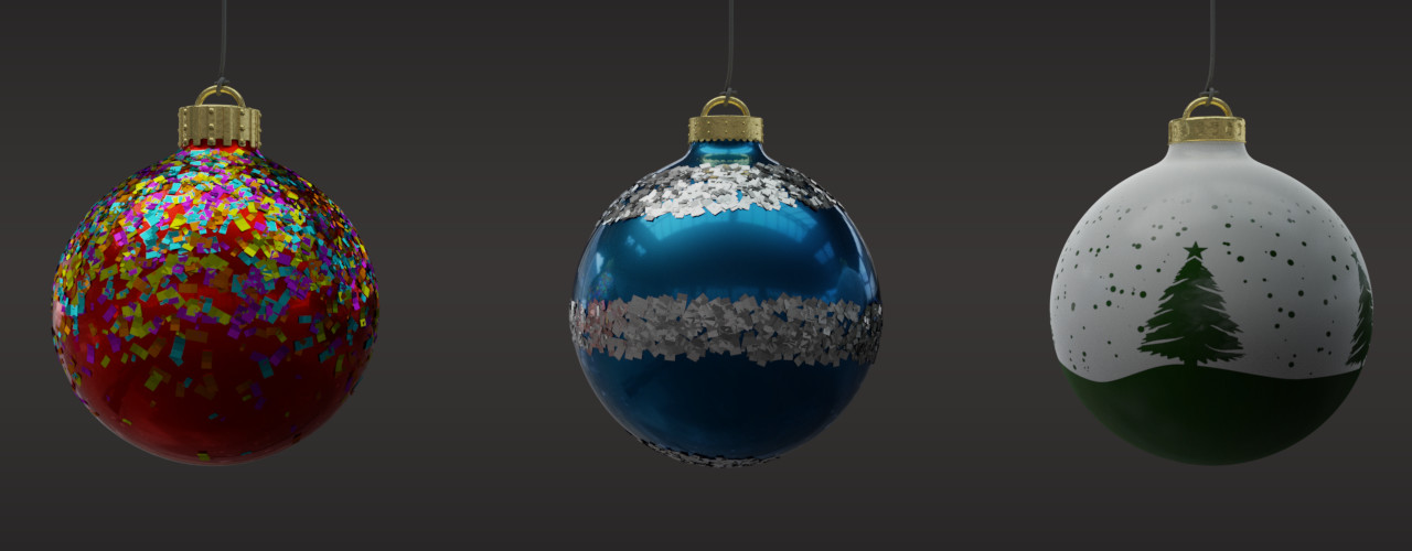 Ravissen carpenen chritmas ornament render test edited