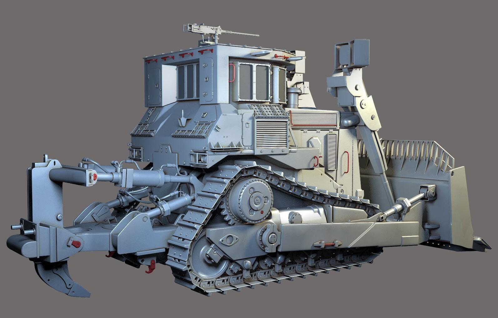 Render of complete hi-poly model