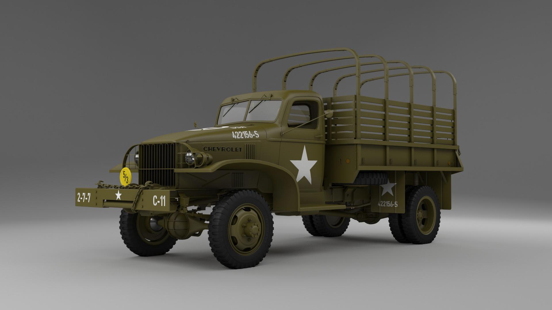 Jan Mostek - Chevrolet 1 1/2 ton WWII truck