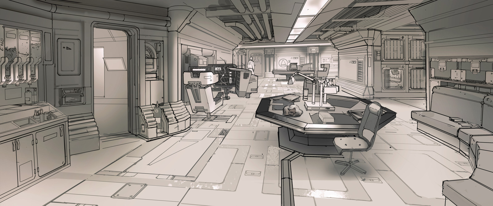 Demo - Sci-fi Station Interior design