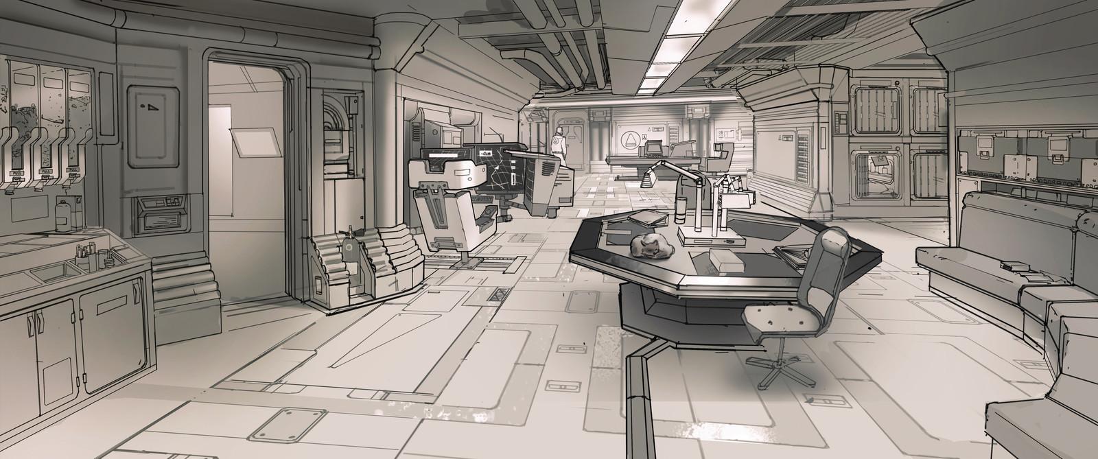 Demo - Sci-fi Station Interior design