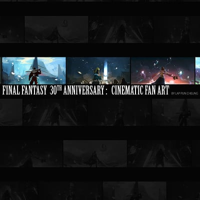 Lap pun cheung final fantasy 30th anniversary fan art collection online
