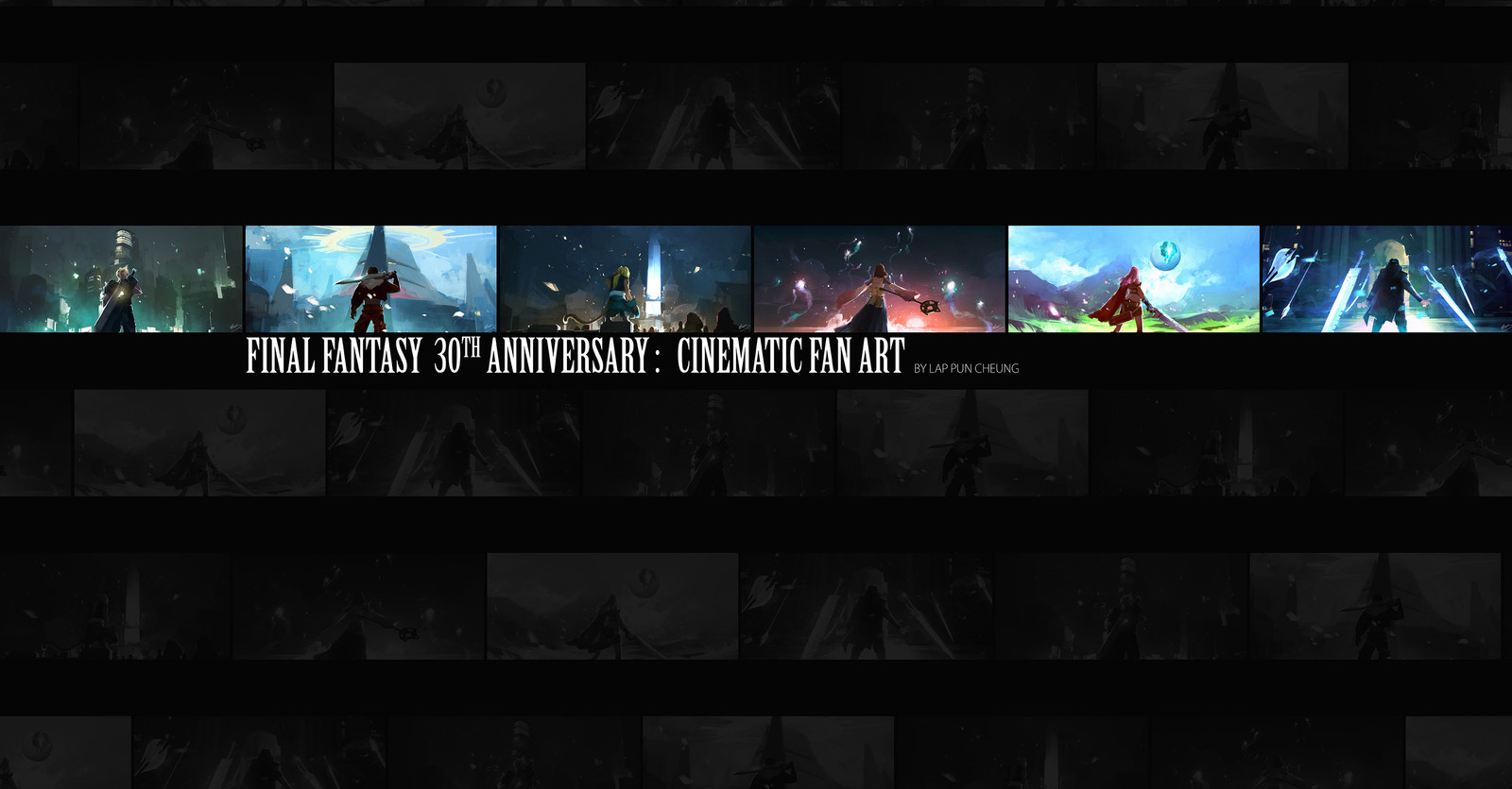 Final Fantasy 30th Anniversary Fan Art