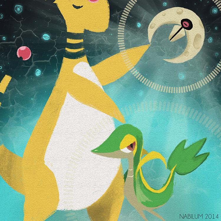Thirteenth Day - Ampharos, Snivy and Lunatone