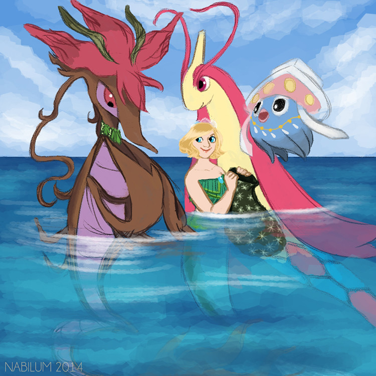 Twenty fourth Day - Delivery! Seagar, Mephtey and Milenia (Dragalge, Inkay and Milotic)