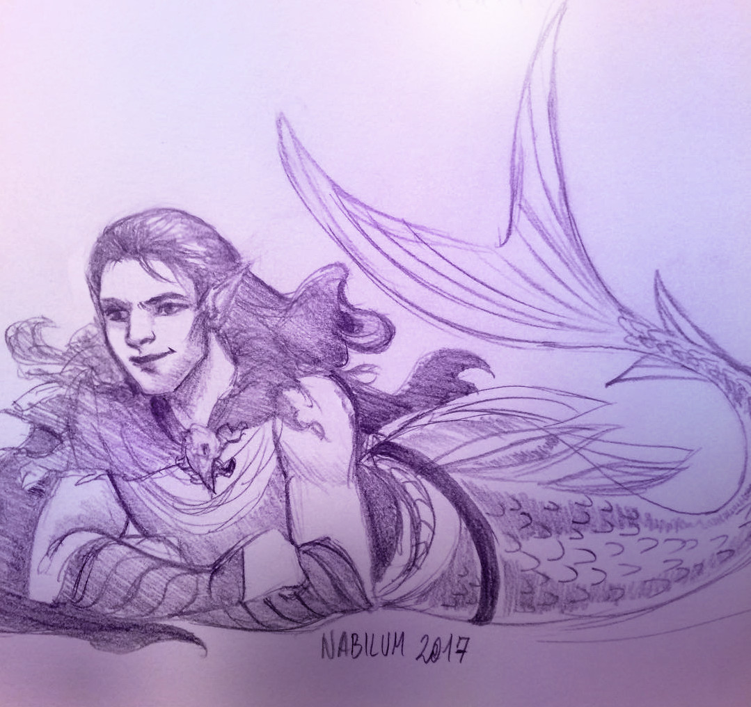 Vax'ildan as a merman